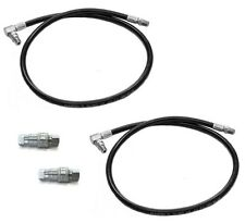 (2) Snow Plow HYDRAULIC PRESSURE HOSES & QUICK COUPLERS for Meyer Diamond 21856