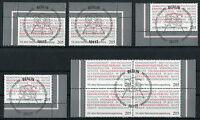 Bund 2868 Eckrand oder Viererblock gestempelt Vollstempel Berlin ESST BRD 2011