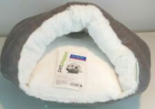 NEW W/TAG Petshoppe Gray Herringbone Cozy Burrow Cave Bed For X-small/Small Dogs