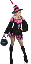 Pink Candy Witch Womans Halloween Costume MEDIUM LARGE