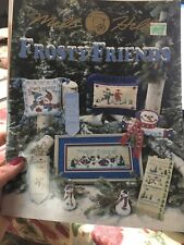 "NEW RARE MILL HILL ""FROSTY FRIENDS""  CROSS STITCH BOOK 2003"