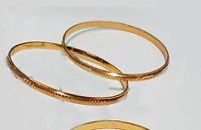 Stunning Gold plated sikh kara very Thin Sikh Khalsa Kara Bracelet Bangle