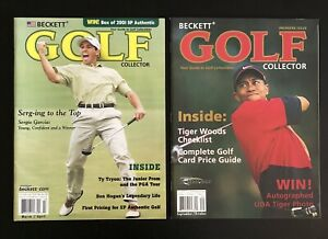 2001/2002 Beckett Golf Collector Price Guide Lot Tiger Woods Sergio Garcia