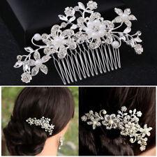 Vintage hair comb bridal wedding crystal rhinestone hair accessories headdress