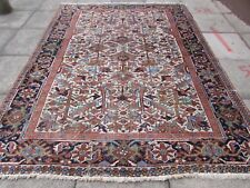 Antique Hand Made Traditional Persian Rugs Oriental Wool Cream Carpet 283x212cm