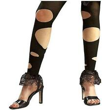 Lil' Dead Riding Hood Tights Gothic Torn Fancy Dress Halloween Costume Accessory
