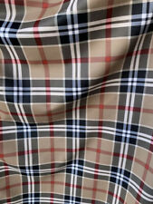 New Plaid Burberry Design Print On Nylon Spandex Sold By Yard- Soft Spandex