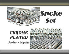 [VA] HONDA SPORTS TWIN CB125 CB175 FRONT + REAR CHROME SPOKE 72PCS SET (A)