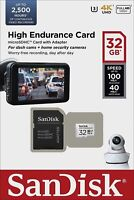 SanDisk® 32GB microSDHC™ High Endurance Card with Adapter C10 U3 V30 dash cam