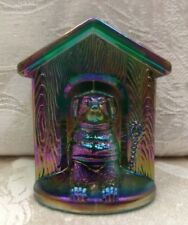 DOG HOUSE Westmoreland GREEN Carnival MATCH HOLDER Glass PUPPY Summit TOOTHPICK!