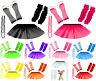 Child Kids Neon UV Tutu Skirt Gloves Leg Warmers Fancy Dress Party Costume Set