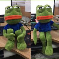"""Pepe The Frog Sad Frog Plush 4chan Kekistan Meme Doll Stuffed Animal Gift 18"""""""