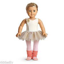 American Girl Isabelle's White Doll Rosette Leotard Tutu & Legwarmers New Retire