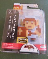 """8 Bit White Link 2.5"""" action figure World of Nintend Legend of Zelda toy"""