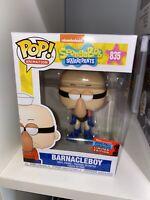 Funko Pop! Spongebob Squapreants Barnacle Boy #835 2020 NYCC + Pop Protector