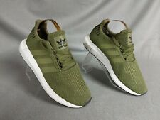 Adidas Unisex Green Lace Up Trainers Size Uk 1 New