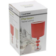 Lloytron 3w LED Red Telescopic Adjustable Height Table Desk Lamp Reading Light