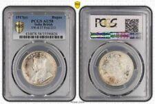 1917(c) India British One Rupee PCGS AU58 Slightly Toned Beautiful Coin