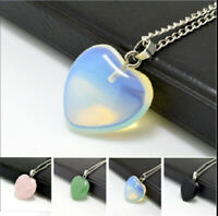 Quartz Stone Heart Bead Pendant Fit Necklace Jewelry Design Wedding Jewelry Gift