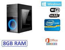 Ordenador Sobremesa intel WIFI 8gb 500gb USB 3.0 HDMI win 10 + office +Antivirus