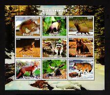 BHUTAN- 2016 .ANIMALS.FAUNA. WILD ANIMALS .BLOCK MNH** Imperforate.
