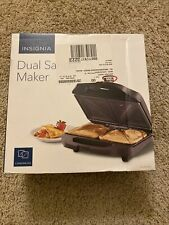 New ListingInsignia Dual Sandwich Maker - Black