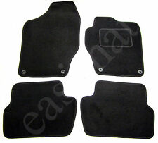 Peugeot 308 Mk1 2007-2013 Fully Tailored Carpet Car Mats Black 4pc Floor Mat Set
