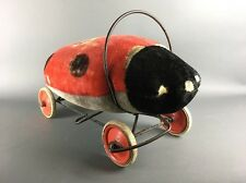 1950's STEIFF Lady Bug Plush Stuffed Ride On Toy