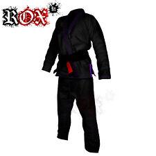 BJJ Costume De Gi Jiu Jitsu Brésilien MMA kimono ROX COMPATIBLE AVEC Noir Violet
