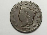 Better-Date 1826 US Coronet Head LARGE CENT Penny.  #7
