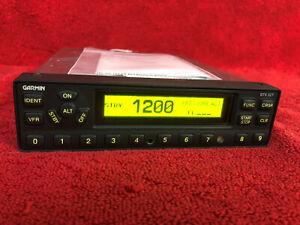 GARMIN GTX 327 TRANSPONDER BENCH CHECKED /w 8130 Tray & Backplate