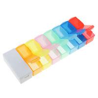 14 Fächer 7 Tage Tablettenbox mit Medikamententeiler 2 Fächer / Tag