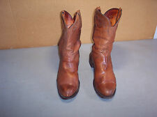 Lucchese  Mens Roper Toe Western Boots Size 9-1/2 EE Brown Cowboy