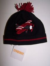 NWT GYMBOREE HOLIDAY MEMORIES BLACK RED AIRPLANE WINTER HAT 12-24 Months