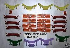 Honda Del Sol Windshield Molding Clip Plastic Window Glass Front Trim 1997 1996