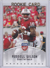 RUSSELL WILSON Young Stars ROOKIE CARD Leaf Football RC SEATTLE SEAHAWKS