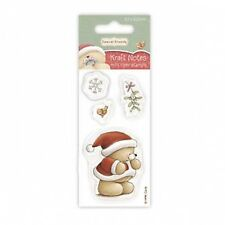 FOREVER FRIENDS 50 x 100mm Mini CLEAR STAMP-NATALE KRAFT NOTES-con sbavature vischio