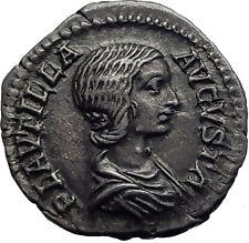 PLAUTILLA Caracalla's wife 202AD Ancient Silver Roman Coin VENUS Cupid  i63448