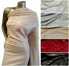 Embossed w/ Matte Foil on Stretch Textured Jacquard Polyester Spandex Fabric