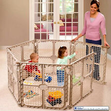 Play Center Playpen Kids Panel Indoor Outdoor Baby Home Pen Fun Safety Yard Area
