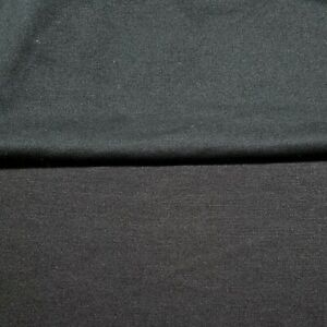 """Ponte Jersey Fabric Black and Dark Brown Colours 55"""" Wide 2 Way Stretch"""