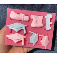 Graduation Hat Medal silicone fondant lace mold cake decorating tools chocolate