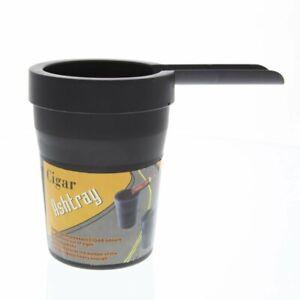 Durable Black Cigar Ashtray - Plastic Car Auto Cup Holder Friendly Ashtray