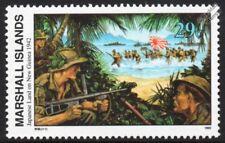 WWII 1942 JAPANESE LAND IN HUON GULF (New Guinea) IJA Army & Warship Stamp