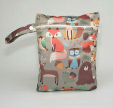 Small Wet Bag for Nappies, Breast Pads, Wipes, Cloth Pads - Forest