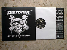 DISFORIA / DRUNKARDS - SPLIT LP 6.2017 ITALY anarcho punkhc w/insert - NEW mint