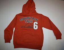 New Gymboree Boys Orange Mountain Trek Hoodie Sweatshirt M 7 8 Year Fox Trail