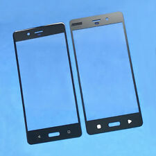 """5.3"""" New Front Outer Screen Glass Lens Cover Panel Replace Part Fr Nokia 8 Black"""