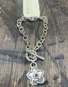 Barse Jodi Toggle Bracelet- Sterling Silver- NWT