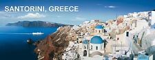 PANORAMA FRIDGE MAGNET of SANTORINI GREECE